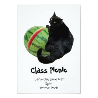 猫のスイカの招待状 カード