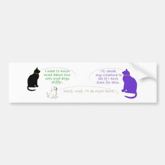 猫のスケジュールのバンパーステッカー バンパーステッカー