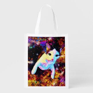 猫のダンスの子猫のカラフルでかわいいディスコのバッグのトート エコバッグ