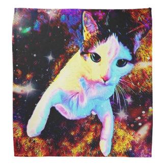 猫のダンスの子猫のカラフルでかわいいディスコのバンダナ バンダナ