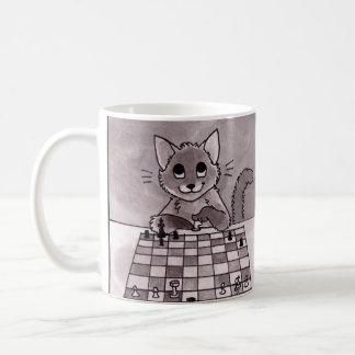猫のチェスのマグ コーヒーマグカップ