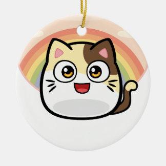 猫のデザインプロダクトとしてブーイング セラミックオーナメント