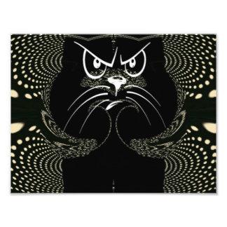 猫のデジタル怒っているプリント フォトプリント