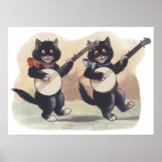 猫のデュオポスター ポスター