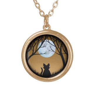 猫のネックレスの猫好きのチャームのネックレス猫のジュエリー ゴールドプレートネックレス
