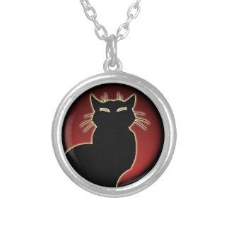 猫のネックレスの猫好きのチャームのネックレス猫のジュエリー シルバープレートネックレス