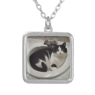 猫のネックレス シルバープレートネックレス