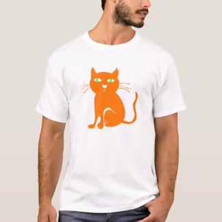 猫のハロウィンのオレンジTシャツ(幼児) Tシャツ