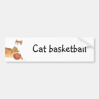 猫のバスケットボール バンパーステッカー