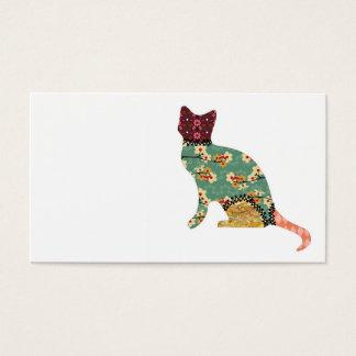 猫のパッチワークペット名刺 名刺