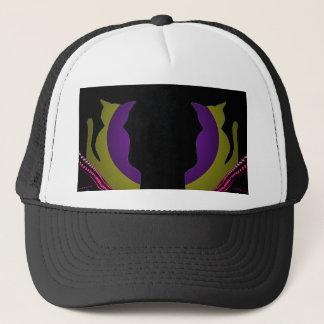 猫のファンキーな二重像のBallCapの帽子CricketDiane キャップ