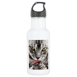 猫のポートレート ウォーターボトル