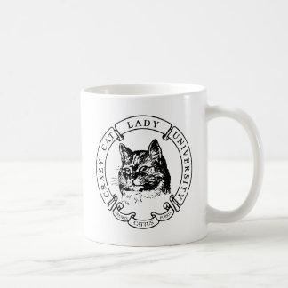 猫のポートレート-黒いCCLUのシール コーヒーマグカップ