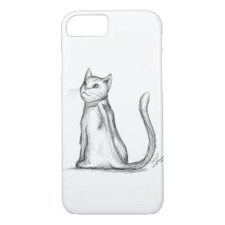 猫のポートレート iPhone 8/7ケース