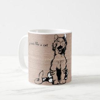 猫のマグは、熱狂するに行きます コーヒーマグカップ