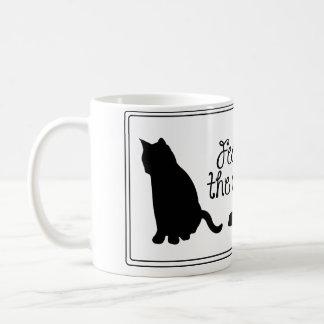 猫のマグを食べ物を与えて下さい コーヒーマグカップ