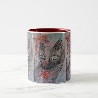 猫のマグ ツートーンマグカップ