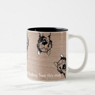 猫のマグ、熱狂するな猫 ツートーンマグカップ
