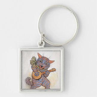 猫のルイWainのkeychainによる熱狂するなヴィンテージの芸術 キーホルダー