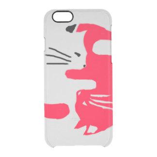 猫の例 クリアiPhone 6/6Sケース