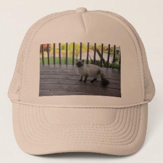 猫の写真が付いている帽子 キャップ