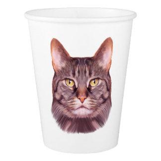 猫の写真のポートレート 紙コップ
