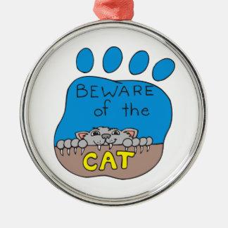 猫の印書イメージ メタルオーナメント