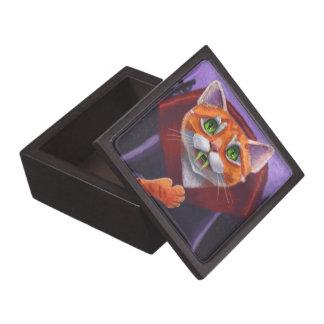 猫の吸血鬼のオレンジの虎猫 ギフトボックス