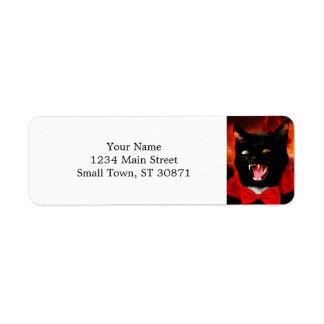 猫の吸血鬼-黒猫-おもしろいな猫 ラベル
