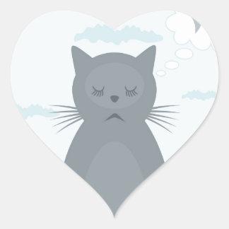 猫の夢 ハートシール