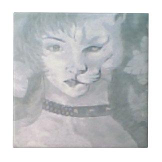 猫の女性 タイル