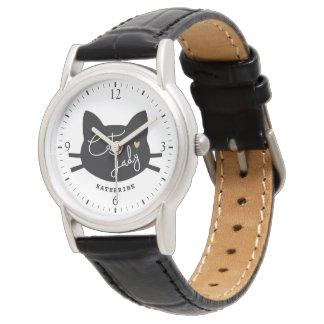猫の女性 腕時計