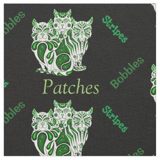 猫の子ネコの民芸パッチはまたは縞で飾りますか、またはへまをします ファブリック