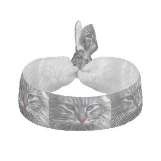 猫の子猫の青い目のヘアタイ ヘアタイ