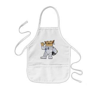 猫の宇宙飛行士 子供用エプロン