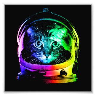 猫の宇宙飛行士-宇宙猫-おもしろいな猫 フォトプリント