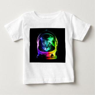猫の宇宙飛行士-宇宙猫-おもしろいな猫 ベビーTシャツ