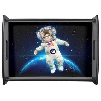 猫の宇宙飛行士-宇宙猫-猫好き トレー