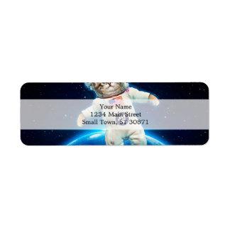 猫の宇宙飛行士-宇宙猫-猫好き ラベル