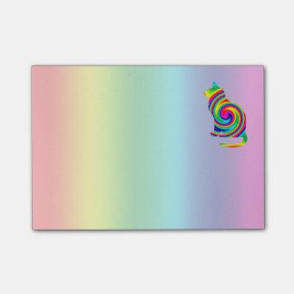 猫の定形虹の回転 ポストイット