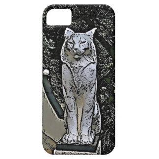 猫の彫像の電話箱 iPhone SE/5/5s ケース