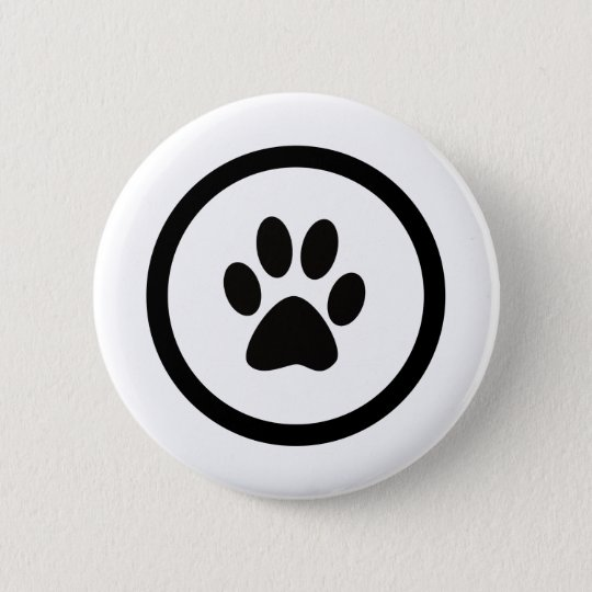 猫の手紋 5.7CM 丸型バッジ