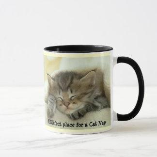 猫の昼寝のマグ マグカップ