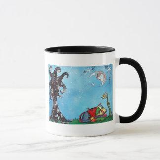猫の昼寝の芸術 マグカップ