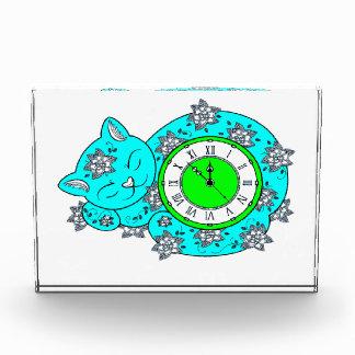 猫の時計 表彰盾