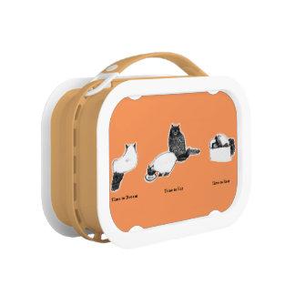 猫の時間箱とのカスタマイズ可能なオレンジyuboの昼食 ランチボックス