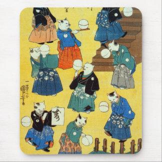 猫の曲芸師、Kuniyoshi、Ukiyo-e、猫の国芳の曲芸師 マウスパッド