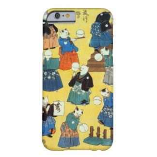 猫の曲芸師、Kuniyoshi、Ukiyo-e、猫の国芳の曲芸師 Barely There iPhone 6 ケース