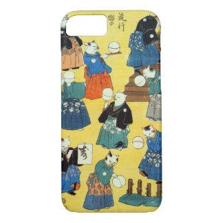 猫の曲芸師、Kuniyoshi、Ukiyo-e、猫の国芳の曲芸師 iPhone 8/7ケース