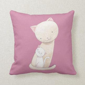 猫の枕かわいい猫のお母さん及び赤ん坊の芸術の装飾用クッション クッション